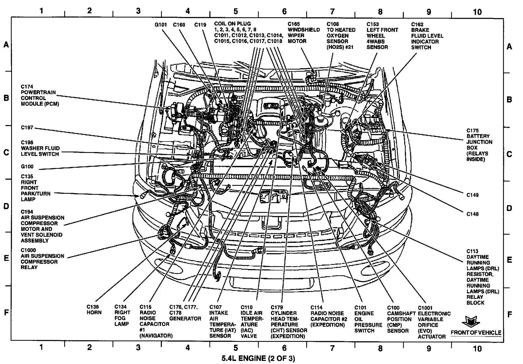 hight resolution of 1999 navigator engine bay diagram what wiring diagram database 2005 lincoln aviator hose diagram