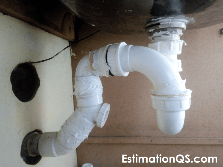 leaking pvc p trap or drain pipe under