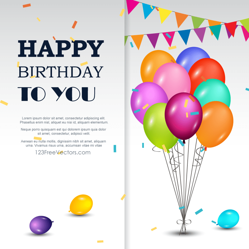 happy birthday background vector template
