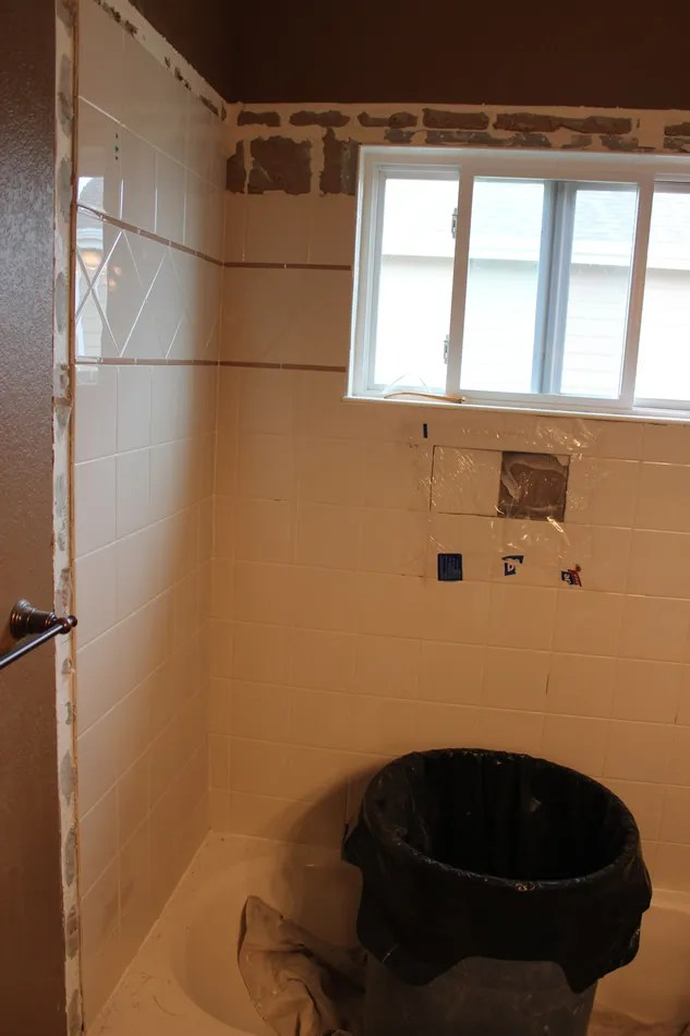 how to remove tiled shower walls the