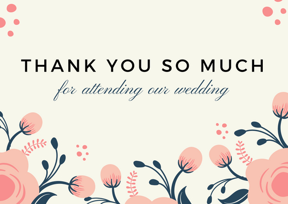 Lovely Thank You Card Wording