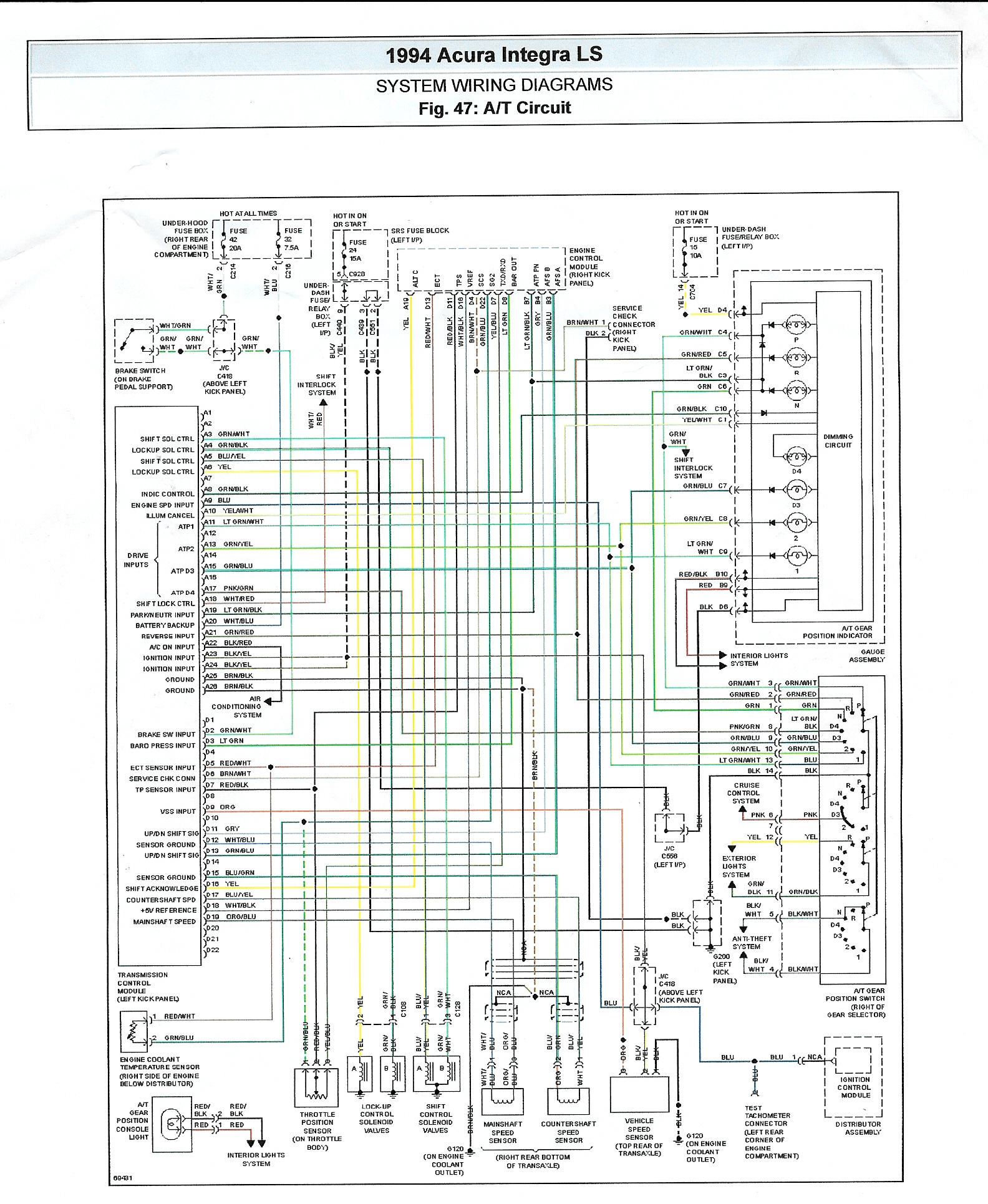 1994 acura integra wiring diagram schematic simple wiring schema 1993 cadillac seville wiring diagram 1993 acura legend belt diagram wiring schematic [ 1584 x 1931 Pixel ]