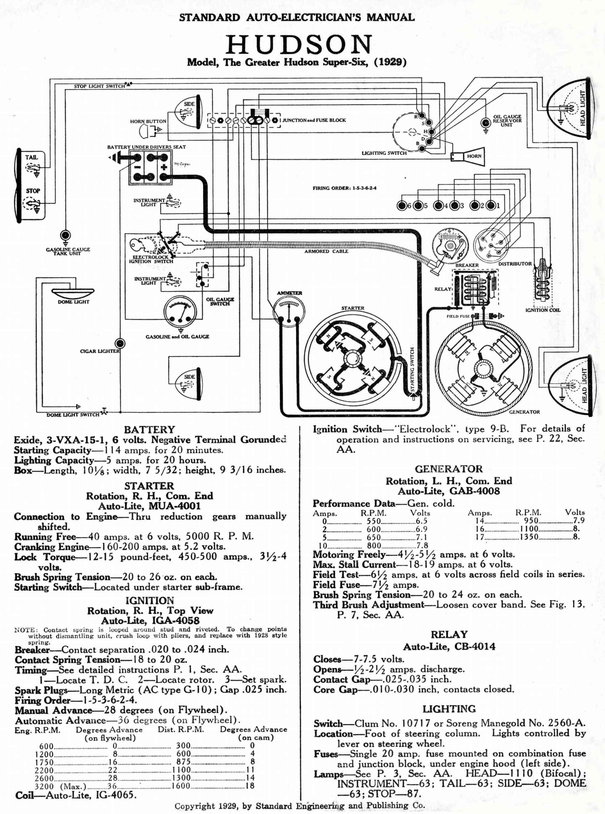 hight resolution of ignition circuit diagram for the 1948 54 hudson 6 cylinder wiring hudson wiring diagrams wiring diagram