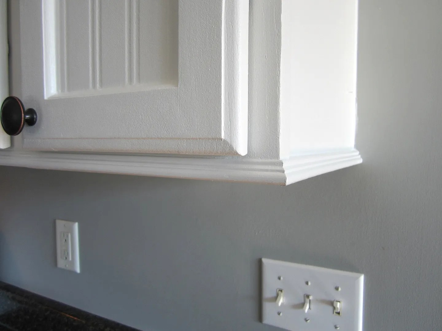Trim for cabinets with no room for crown molding  Home