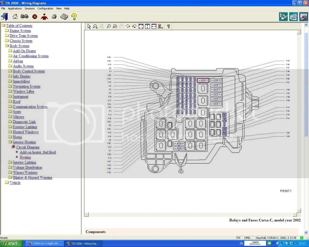 Opel Engine Diagram - on