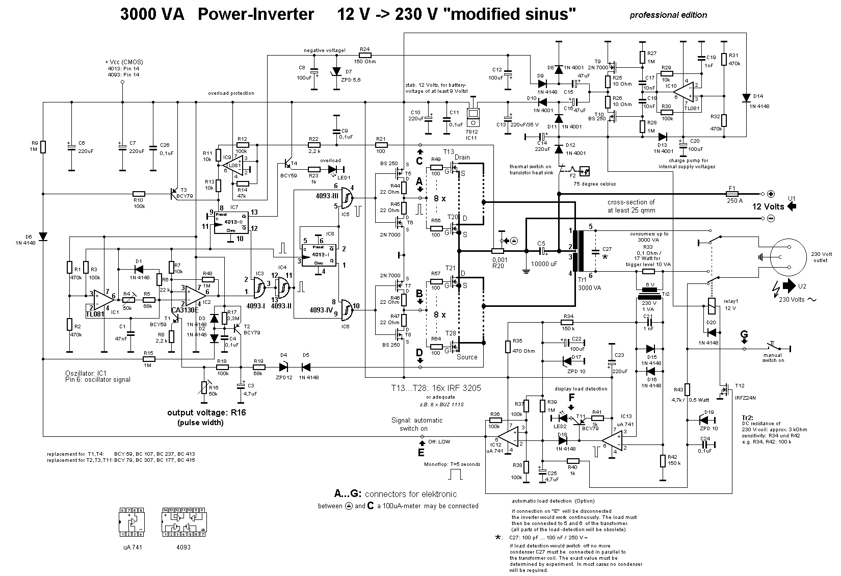 hight resolution of 3000w power inverter 12v to 230v scheme this is the circuit diagram