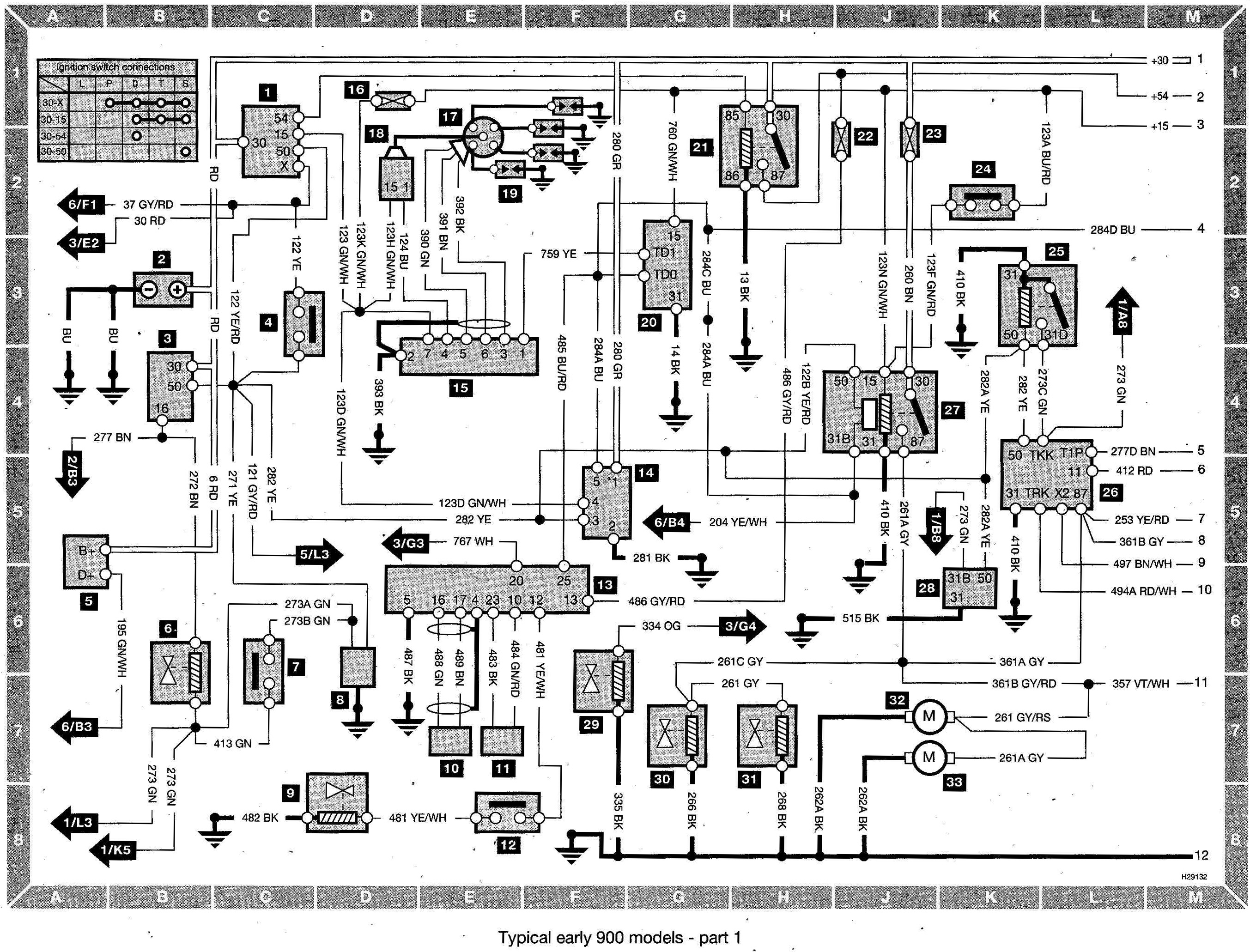 Saab 900 Wiring Diagram Saab Wiring Diagram And Schematics