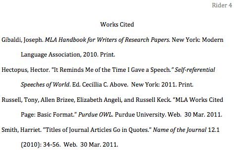 How To Format The Works Cited Page In MLA Style Jerz's Literacy Weblog