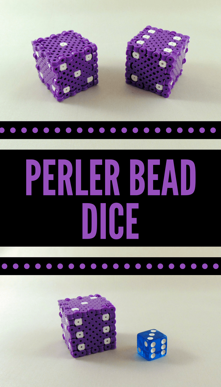 how to make perler bead dice [ 735 x 1286 Pixel ]