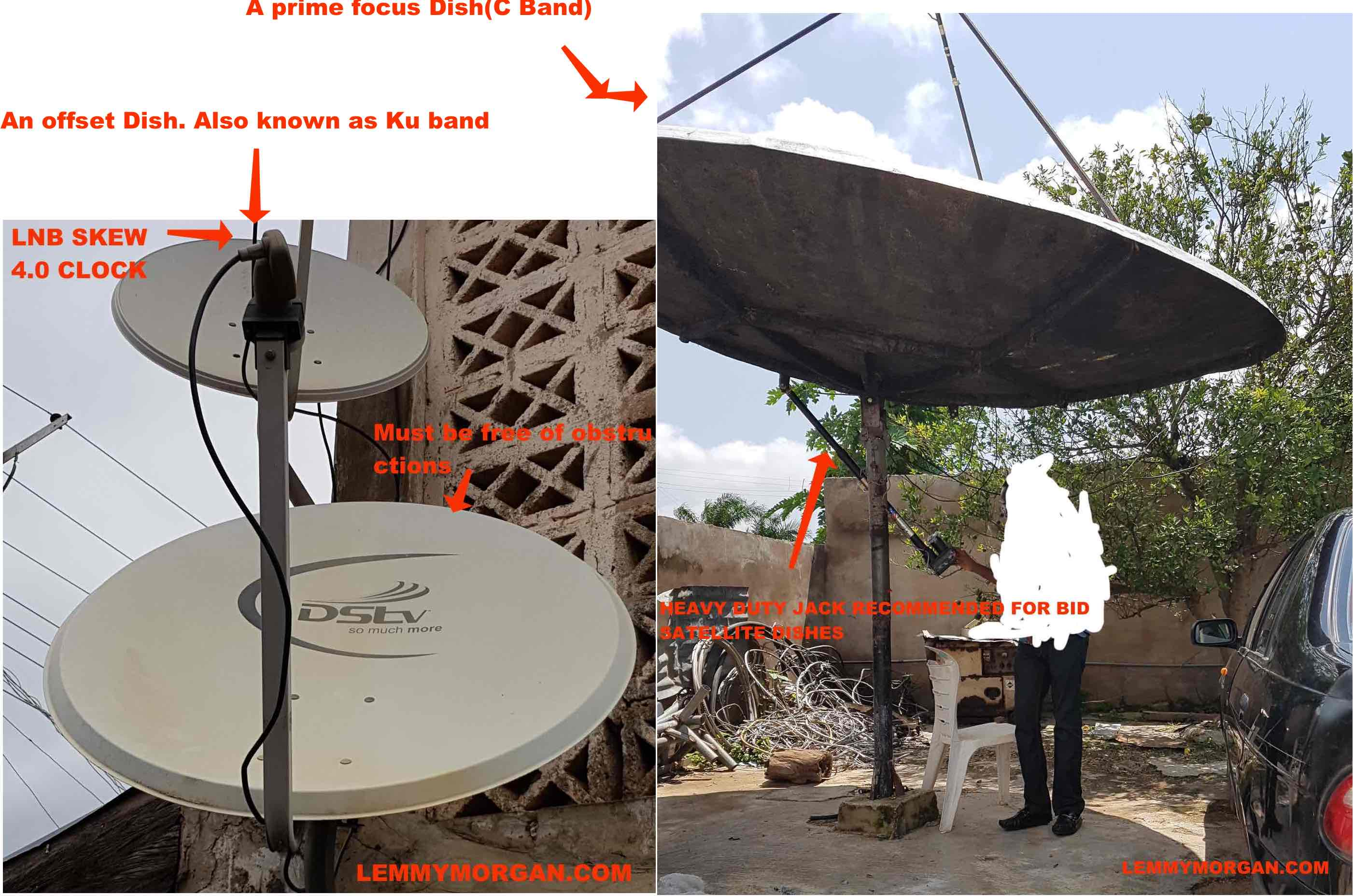 hight resolution of how to manually track a satellite dish network frequencies
