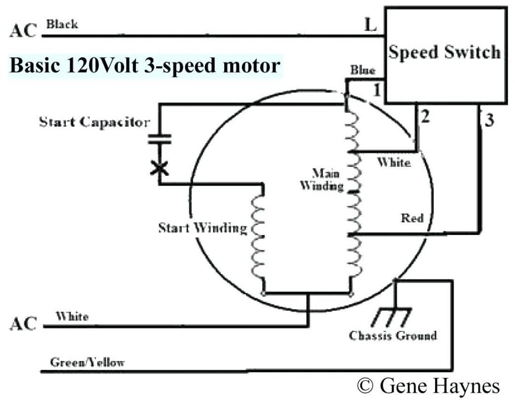 Capacitor Run Motor Wiring Diagram