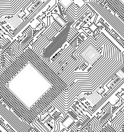 black and white circuit board clipart 7 [ 1300 x 1001 Pixel ]