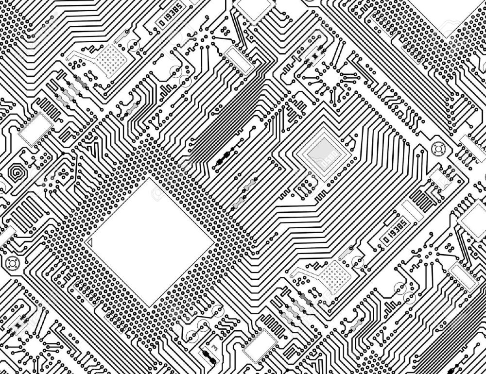 medium resolution of black and white circuit board clipart 7