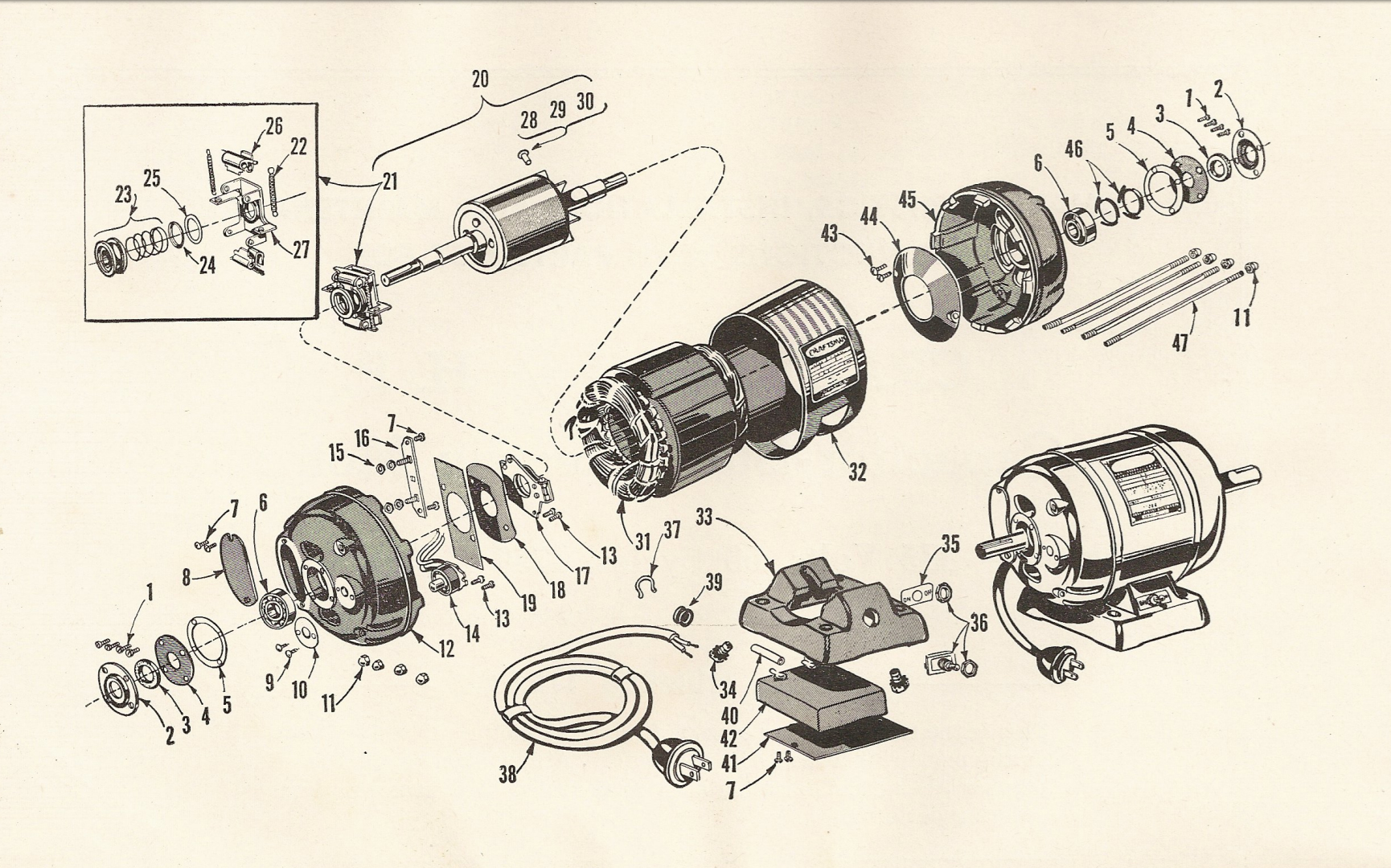 hight resolution of craftsman 115 6962 1 2 hp capacitor start electric motor diagram source