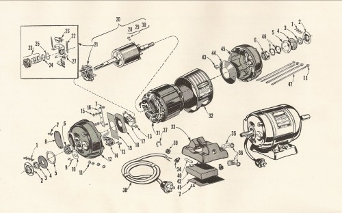 small resolution of craftsman 115 6962 1 2 hp capacitor start electric motor diagram source