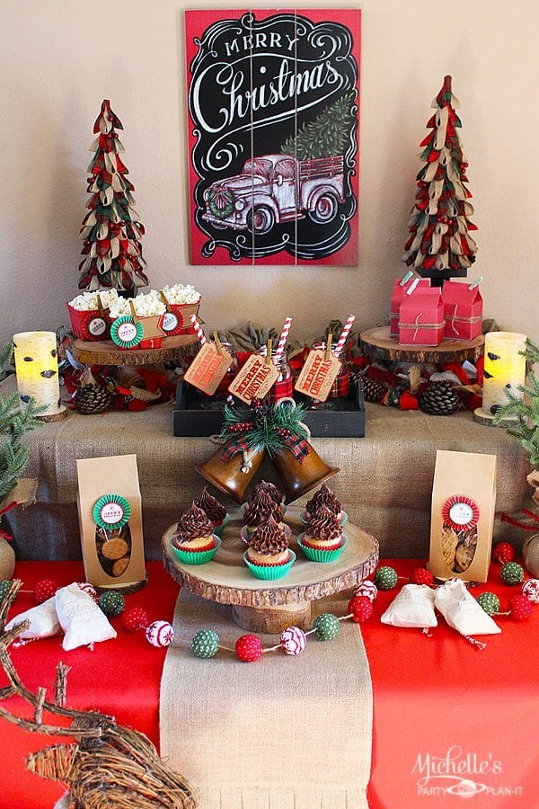 easy rustic christmas party