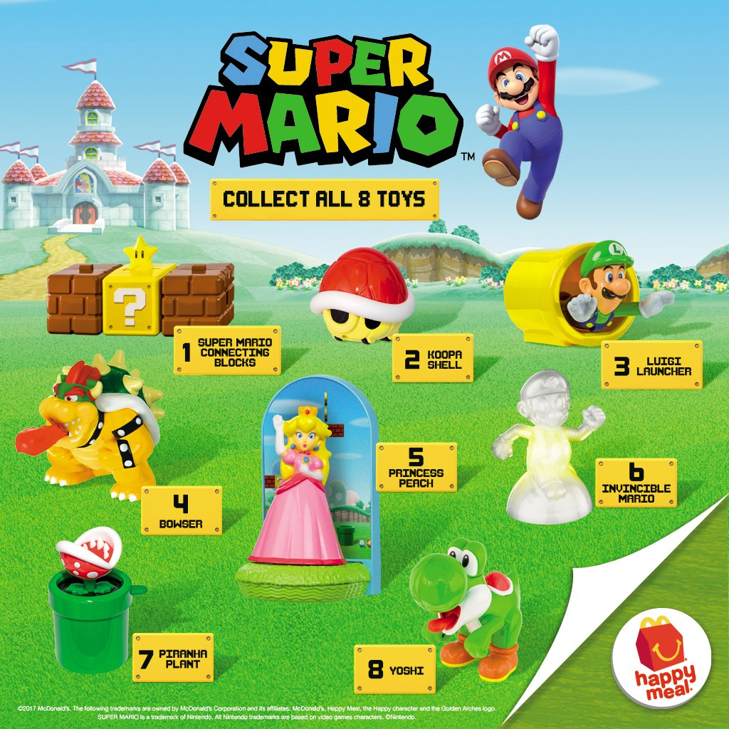 Mcdonald S Happy Meal Super Mario 2017 Mommy Levy