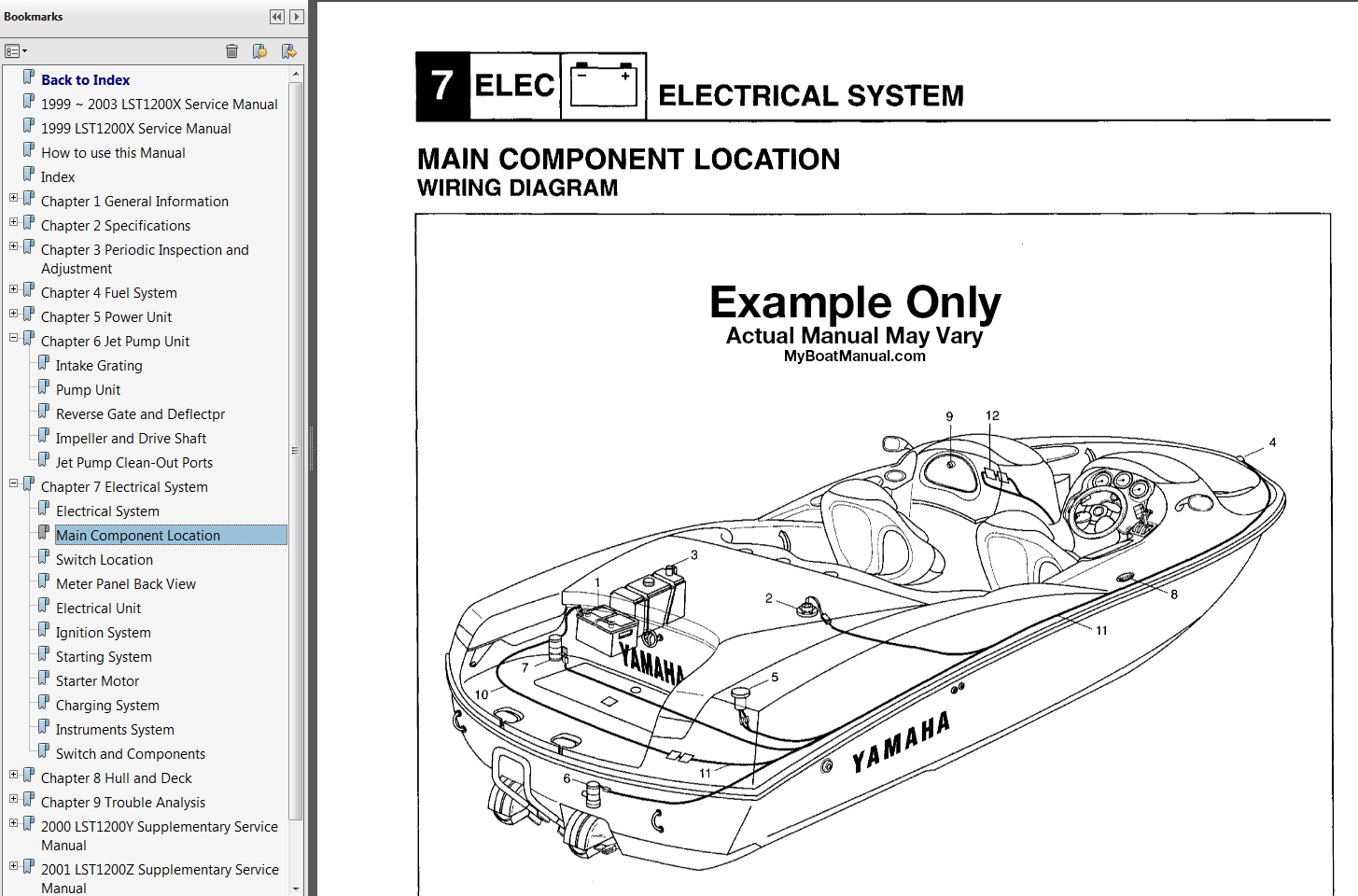 hight resolution of 1996 1998 yamaha exciter 220 jet boat service manual