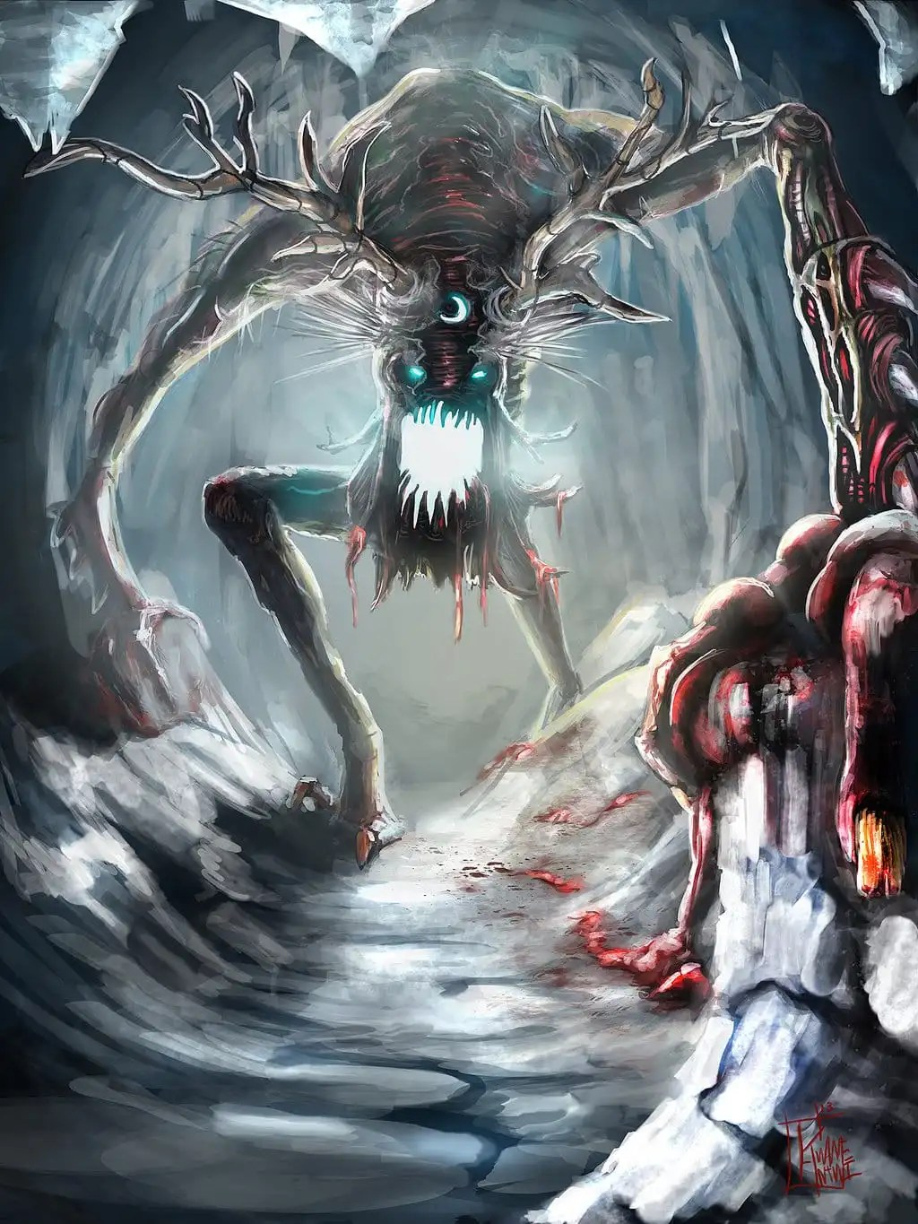 Mythical Creatures In The Fall Wallpaper Wendigo The Mythical Creature The Legend And Its Origin