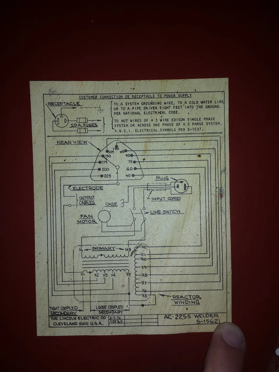 hight resolution of lincoln ac 225 welder wiring diagram wiring diagram sheet lincoln ac 225 welder wiring diagram wiring