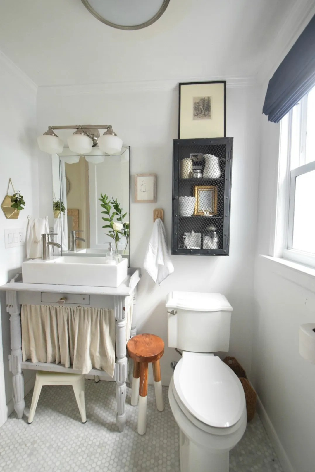 Small Bathroom Ideas and Solutions in our Tiny Cape  Nesting With Grace
