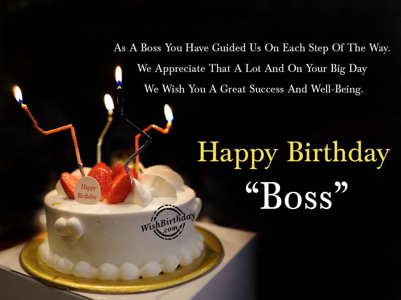 32 Wonderful Boss Birthday Wishes Sayings Picture