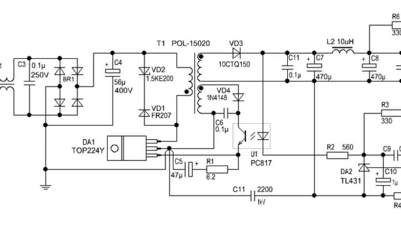 small resolution of free circuit diagram self switching power supply