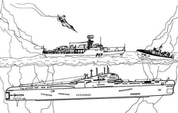 submarine coloring pages # 49