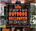 50 Cheap And Easy Outdoor Halloween Decor Diy Ideas Prudent Penny Pincher