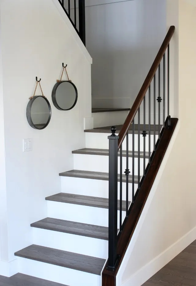 From Carpet To Hardwood Staircase Makeover Satori Design For Living | Wood Treads And Risers | Custom | Metal | Reclaimed Wood | Diy | Mahogany