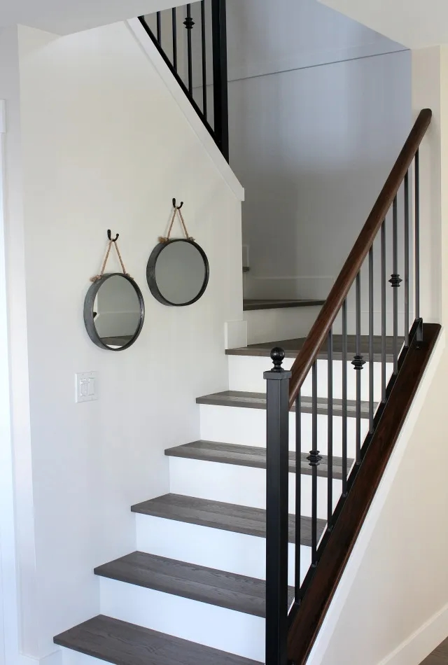 From Carpet To Hardwood Staircase Makeover Satori Design For | Grey Carpet Treads For Stairs | Wool Carpet | Indoor Outdoor | Skid Resistant | Custom Stair | Rugs