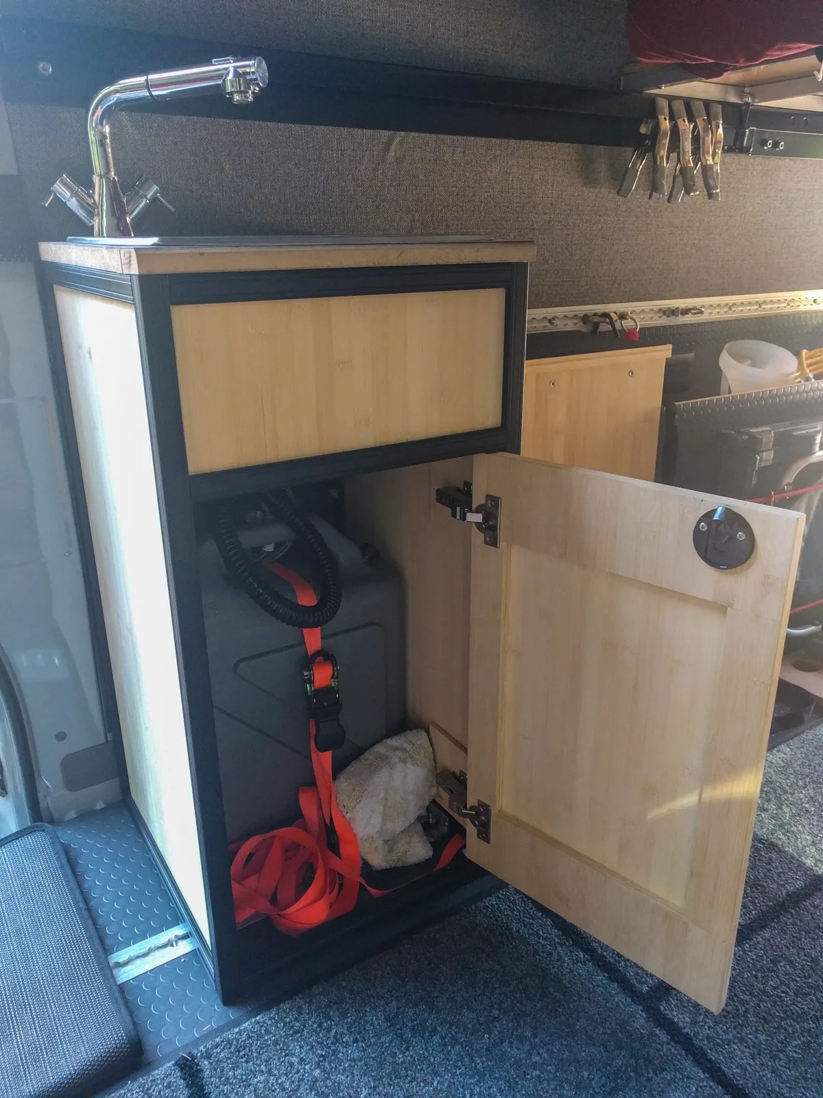 sink cabinet built with