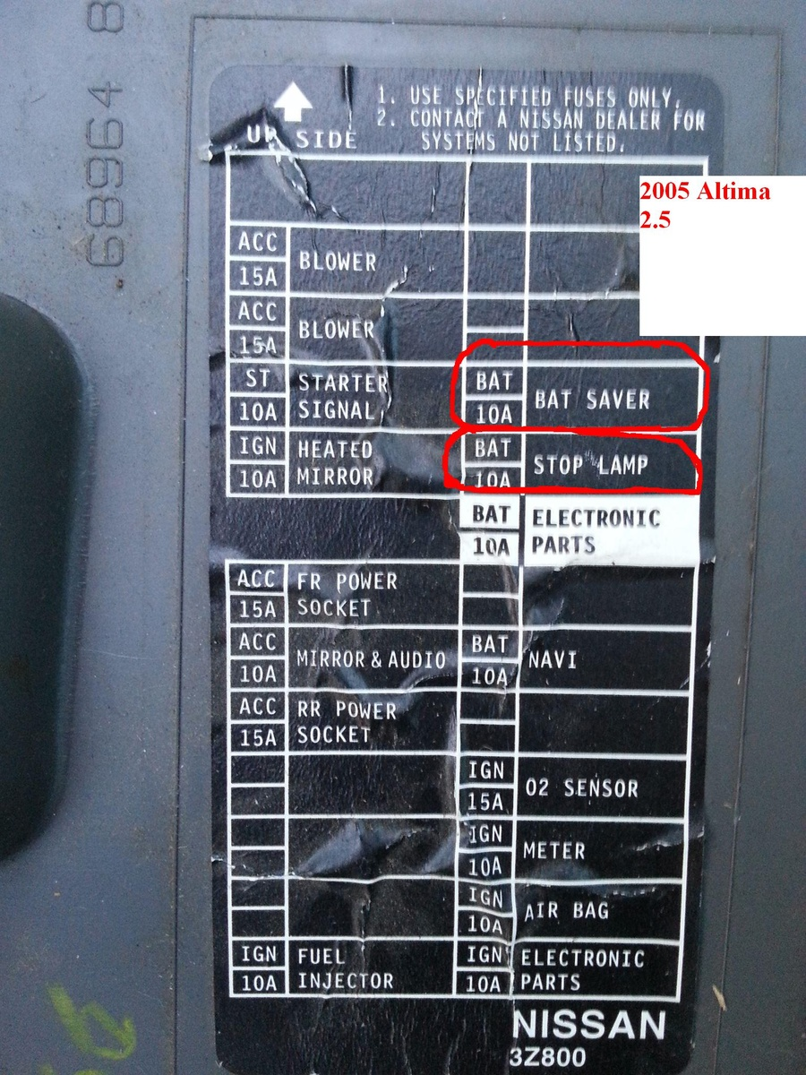 hight resolution of nissan altima fuse box cover