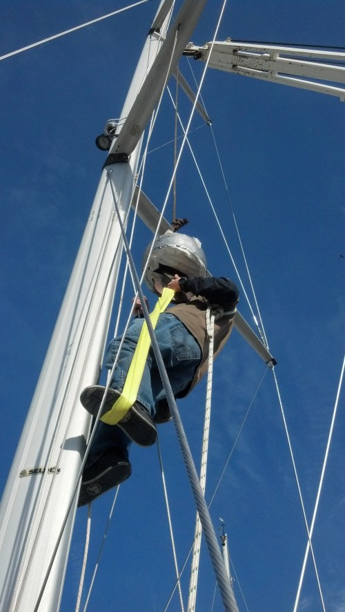 small resolution of unstepping the mast with a crane when rigging up the lifting gear via a crane gin pole gantry gaff or fork lift it is important to step away form the