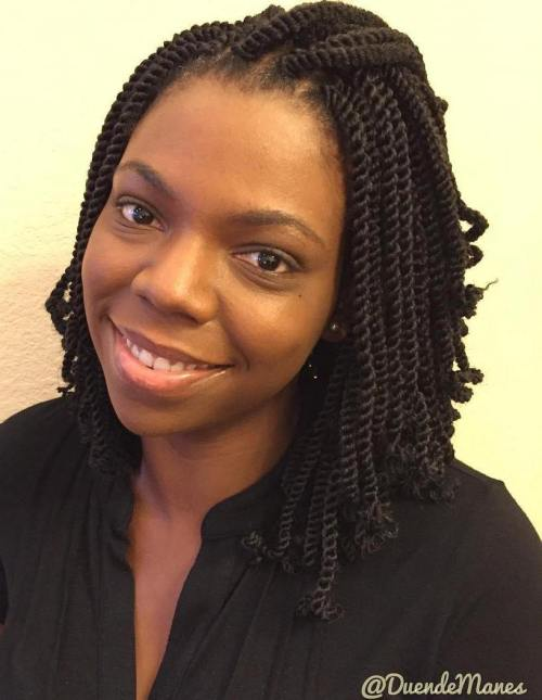 30 Hot Kinky Twist Hairstyles To Try In 2020