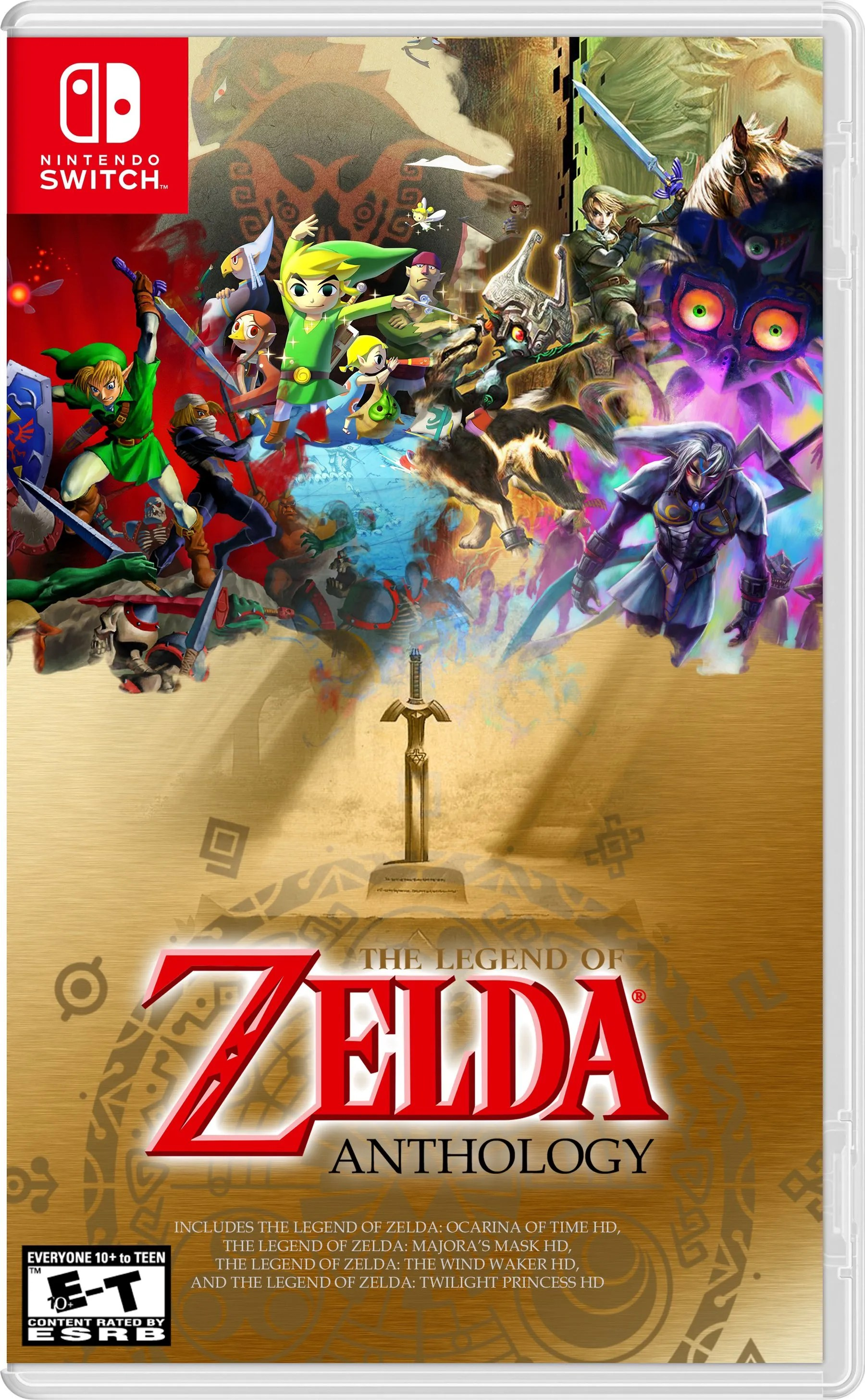 Fan Creates Zelda Hd Collection Box Art For The Switch