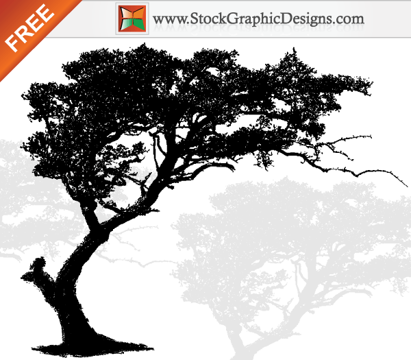 free vector art tree