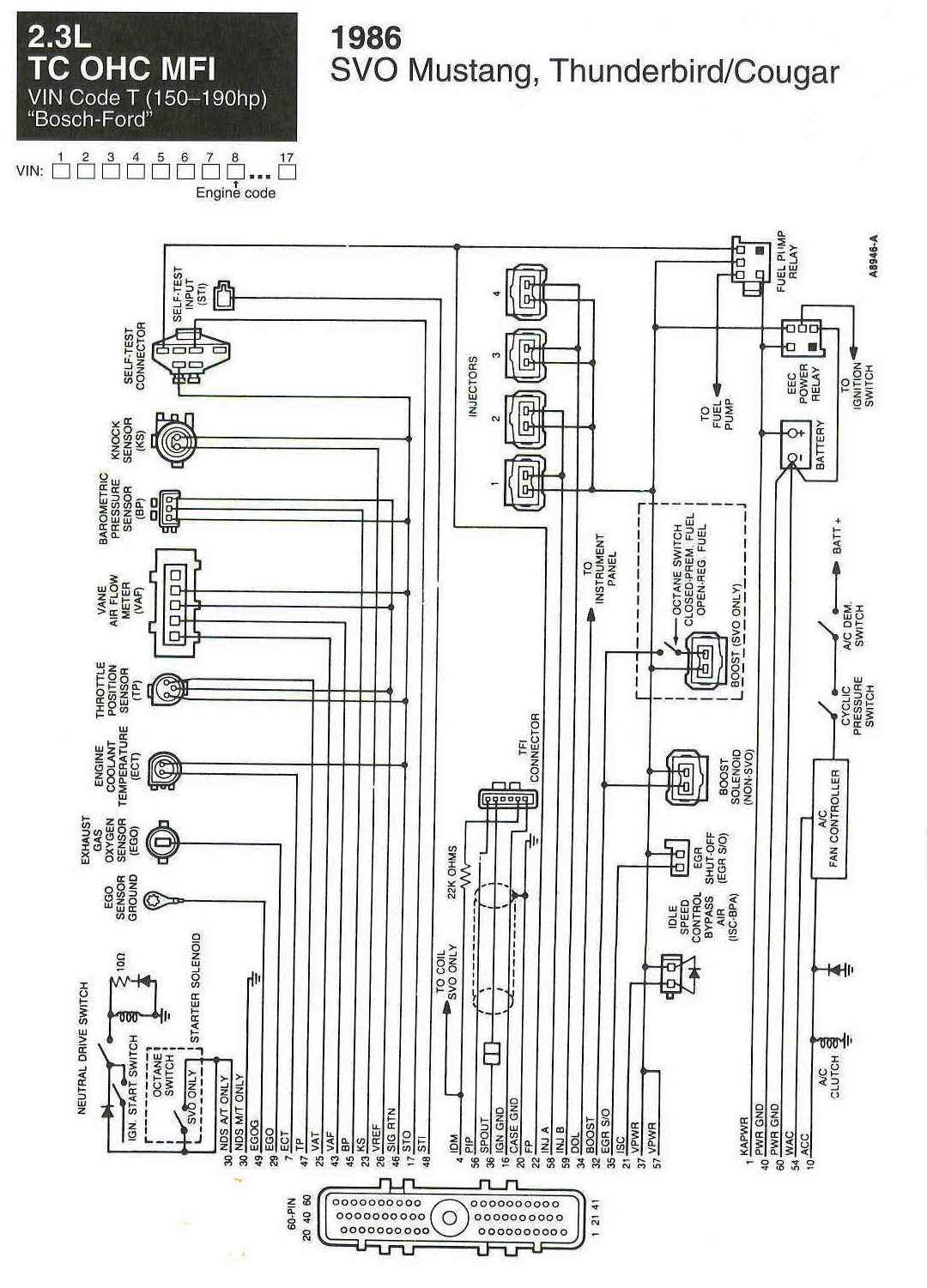 hight resolution of mustang alternator wiring diagram