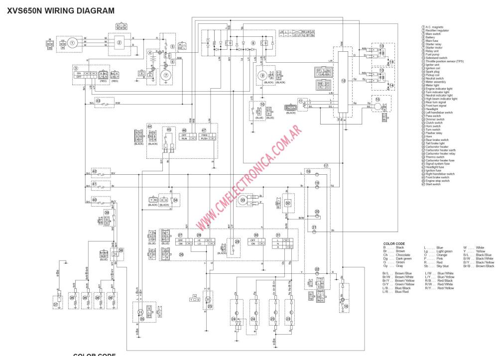 medium resolution of yamaha 650 wiring schematic wiring diagram datasource yamaha xvs 650 wiring diagram 1999 yamaha 650 wiring