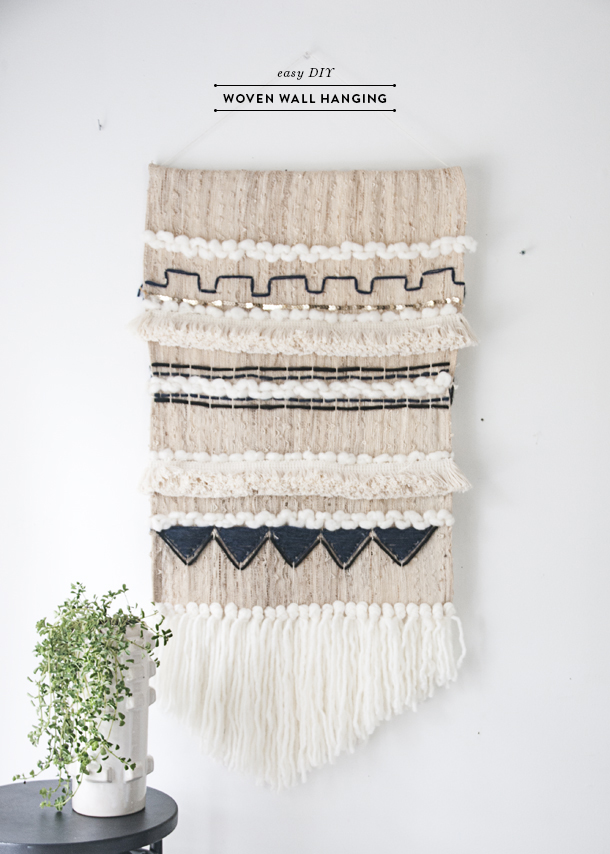 Easy Diy Woven Wall Hanging Earnest Home Co