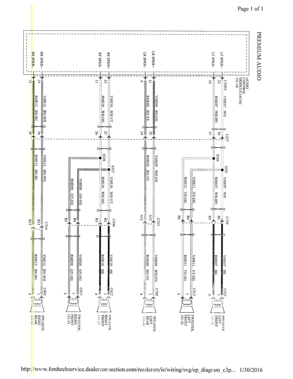 medium resolution of focus mk3 5 stereo wiring diagram