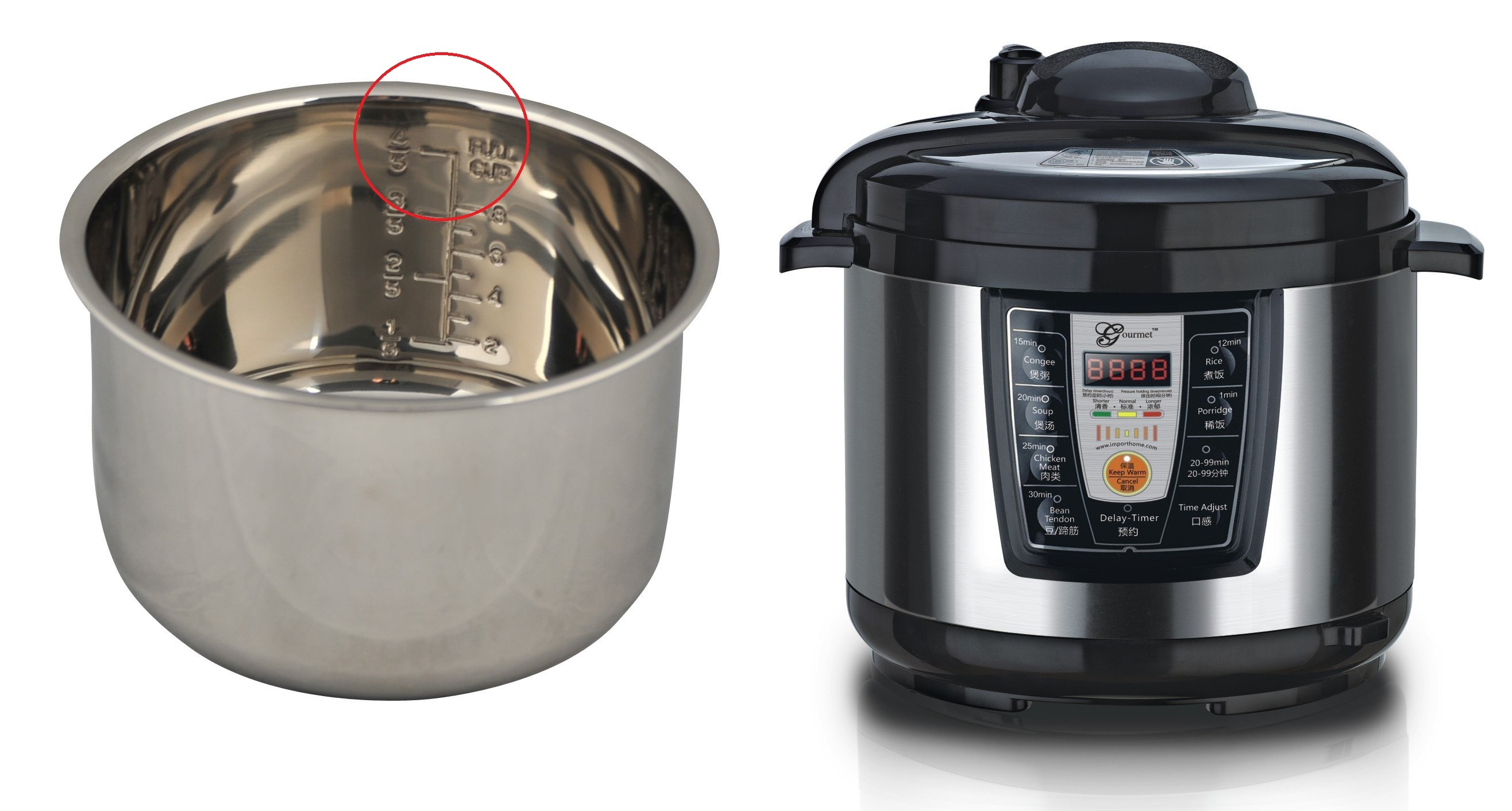medium resolution of usetta inc asian style gourmet automatic electric pressure cooker max line too high for pressure cooking