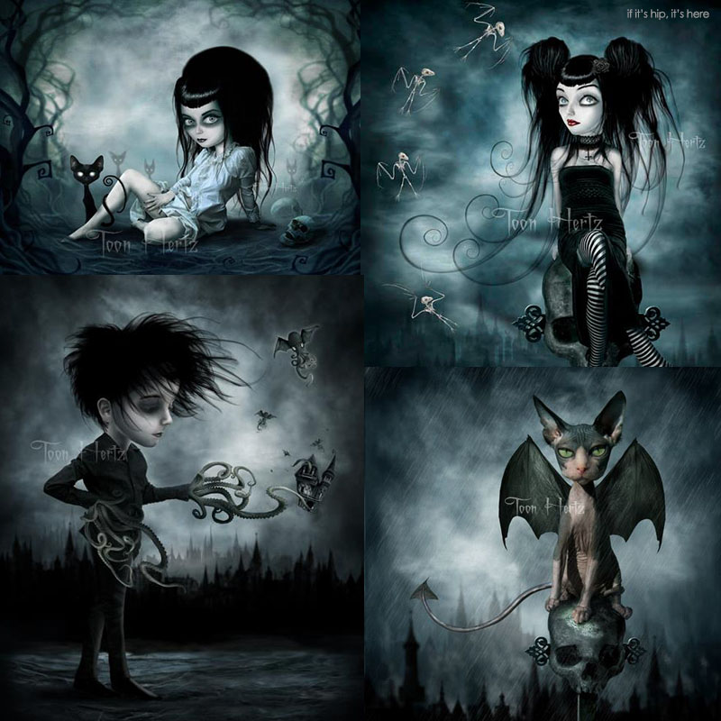 Boy N Girl Sad Wallpaper The Gothic Art Of Toon Hertz 25 Bewitching Examples If