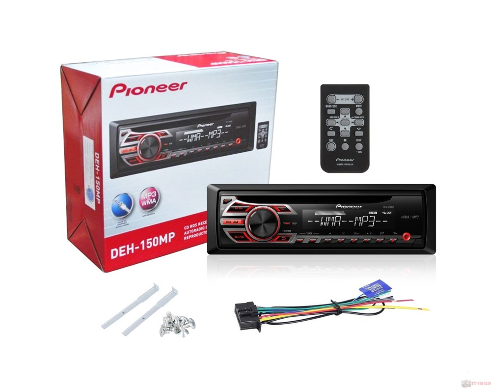 medium resolution of  pioneer deh 150mp car stereo with mp3 playback in box pioneer deh p8400bh wiring diagram deh