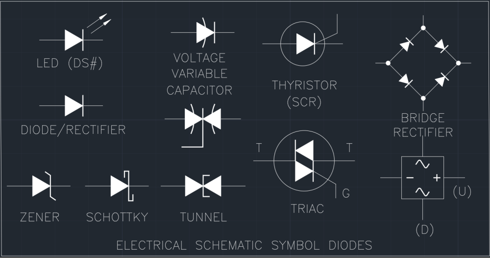medium resolution of electrical schematic symbol diodes cad block and typical drawing electrical schematic symbols dwg electrical schematic symbol