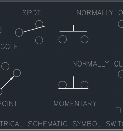 electrical schematic symbol switches cad block and typical open switch normally closed switch switch spdt schematic symbols [ 1191 x 795 Pixel ]