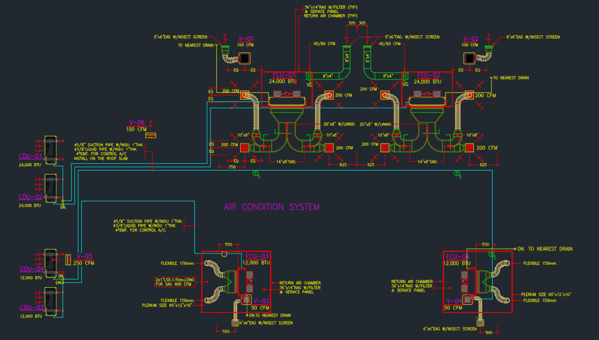 hight resolution of process flow diagram hvac