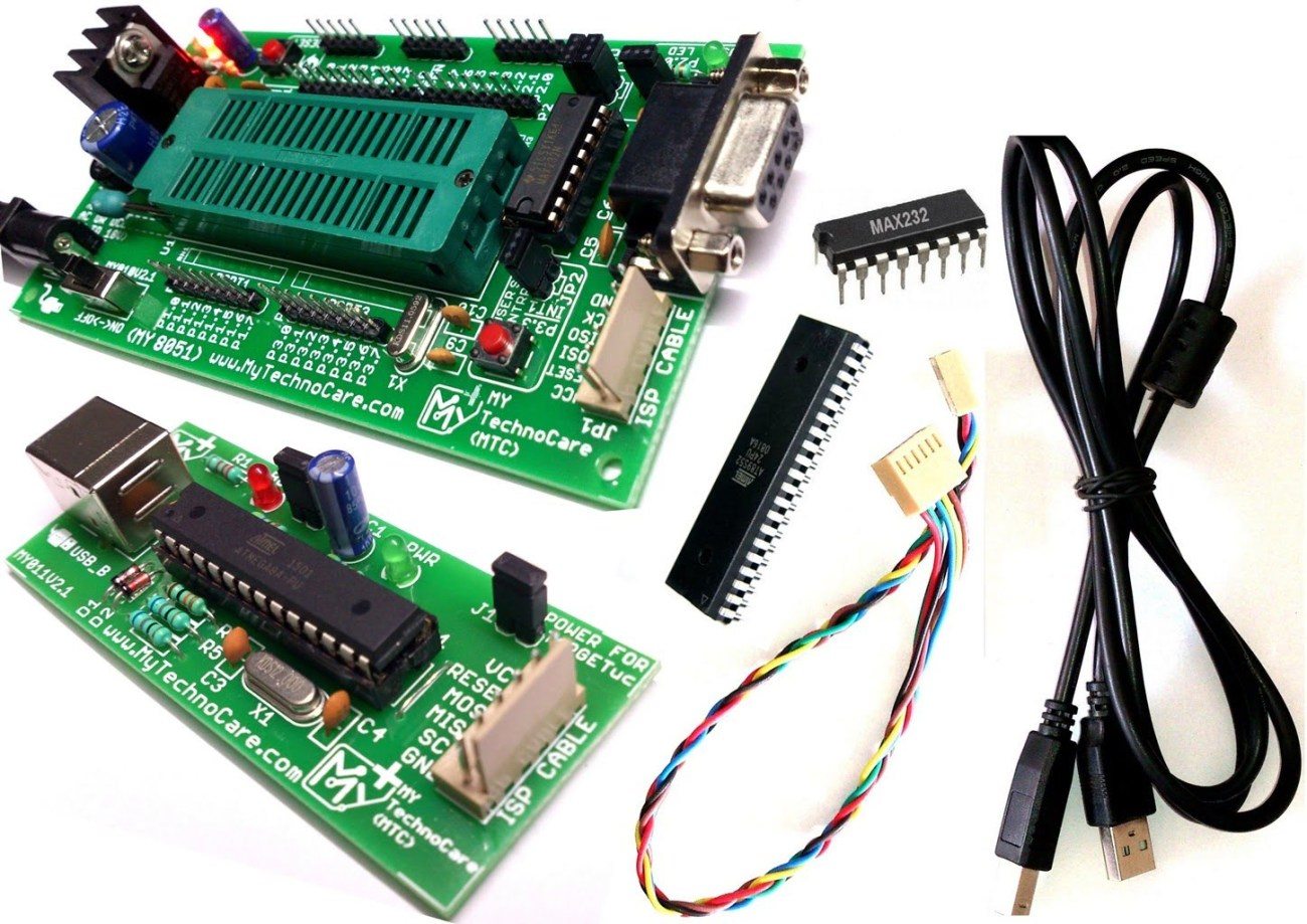hight resolution of 8051 development board with programmer with zif socket max232 atmel at89s52 ic project board 8051