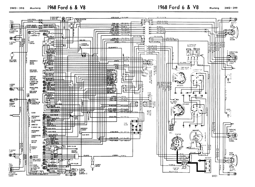 medium resolution of 1968 mustang wiring diagrams evolving software 68 mustang ac wiring