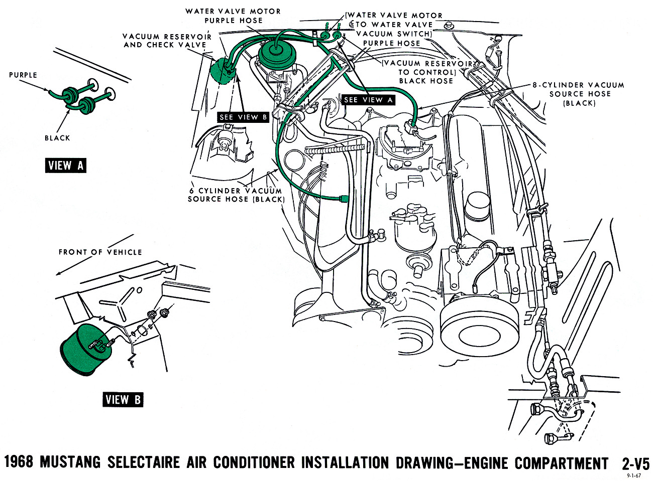 68 mustang vacuum diagram wiring diagram technic ford mustang vacuum line diagram in addition 1966 ford mustang [ 1300 x 963 Pixel ]